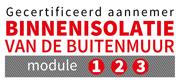 Ik ben gecertificeerd aannemer binnenisolatie van de buitenmuur (module 1, 2, 3).