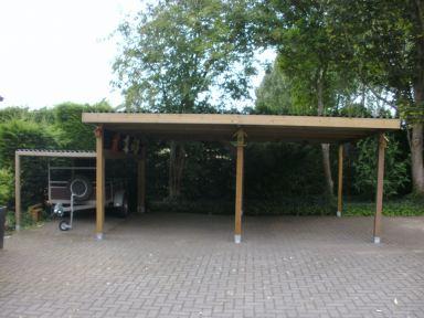 WaxedWood carport op maat gemaakt, Hulst