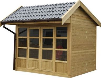 Tuinhuis met asymmetrisch dak in Hulst