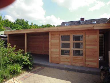 Tuinhuis Larix Douglas geplaatst in Sint Jansteen
