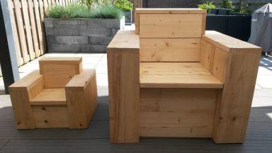 Loungeset steigerhout op maat gemaakt, Terneuzen