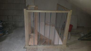zolder met trap en traphek