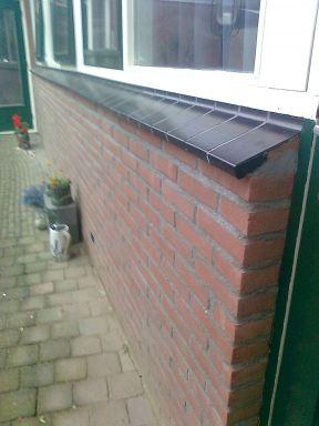 houtenwand vervangen door stenen muur, Nijmegen