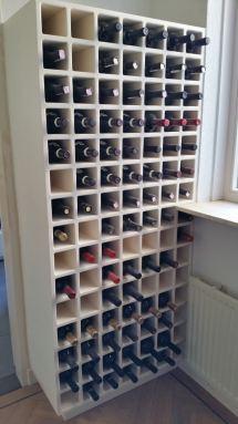 Wijnkast op maat gemaakt