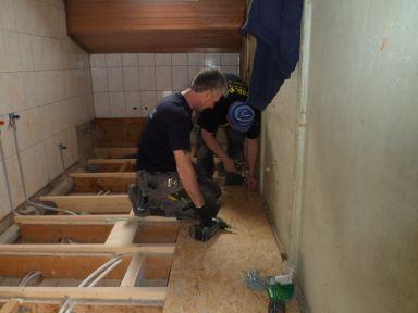 Badkamer renovatie studentenhuis