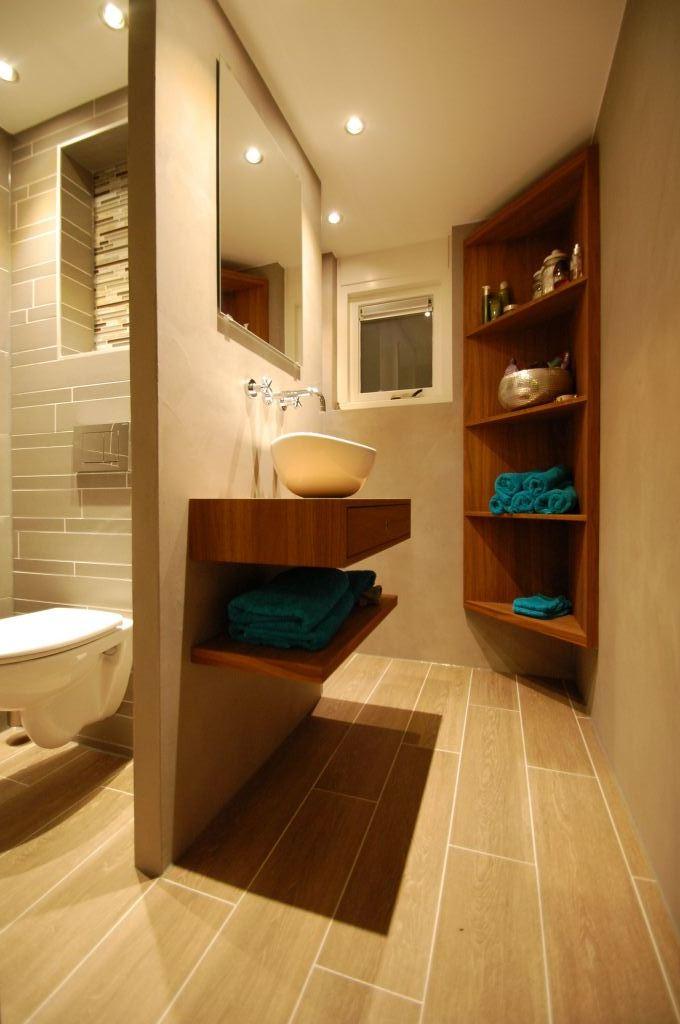 Badkamer met betonsiré