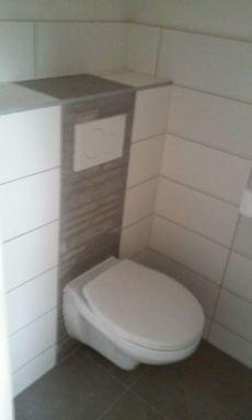 nieuw toilet geplaatst