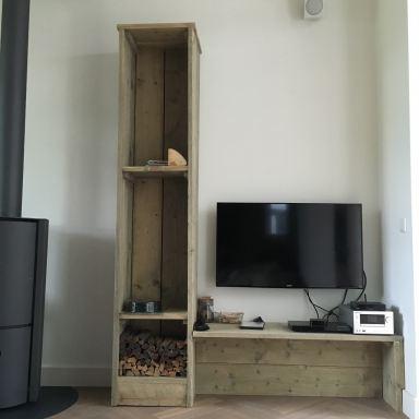 Meubels van steigerhout en andere accesoires