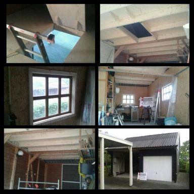 Verbouwing garage Vriescheloo Groningen