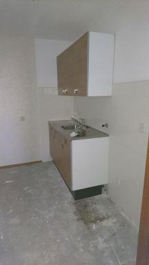 Bestaande keuken verwijdert