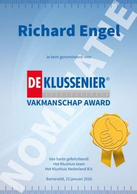 Nominatie vakmanschap award
