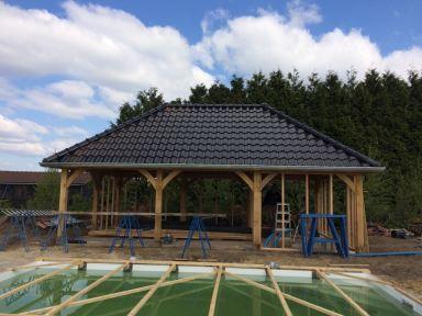 Opbouwen van een poolhouse Breda
