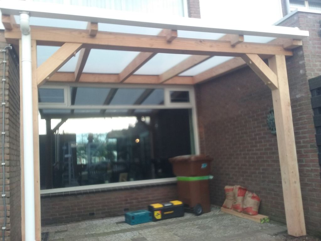 Terras overkapping Douglas hout Breda