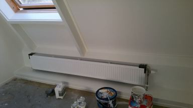 Extra radiator op zolder