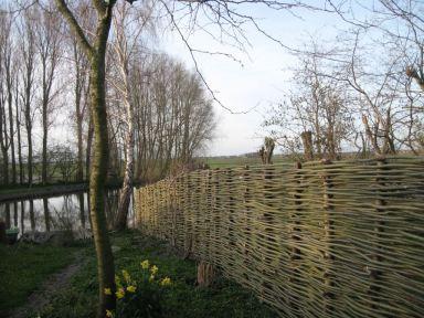 Wilgentenen tuinafscheiding Oostwoud