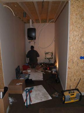 Installeren van CV Ketel en Vloerverwarming