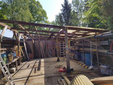 Overkapping werkplaats renoveren Recreatiepark De Paalberg Ermelo