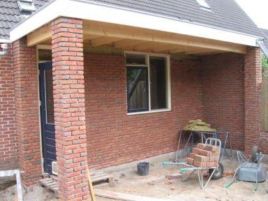 Aanbouw Keuken Lunteren - buitenmuur gemetseld
