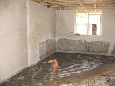 Aanbouw Keuken Lunteren - Vloerverwarming & Stucwerk