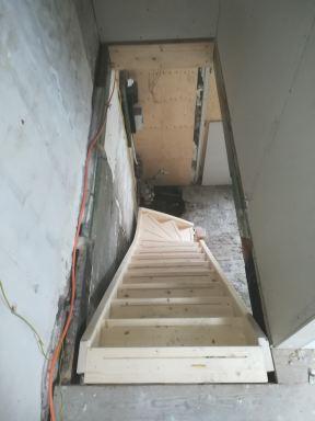 Trap gemaakt en geplaatst in Biggekerke