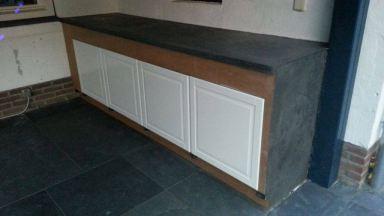 Buitenkeuken met betonlook Beal Mortex in Gemert gemaakt