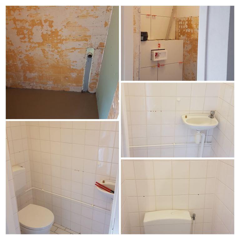 Toilet voor de renovatie