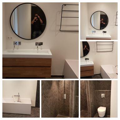Badkamer na renovatie Alkmaar stad 2018 De huidige bewoners van deze badkamer wilde graag een moderne nieuwe badkamer. Ik heb eerst de hele badkamer leeg gehaald en ben vervolgens de droombadkamer van klant gaan maken. Ze wilden graag alle tegels in viss