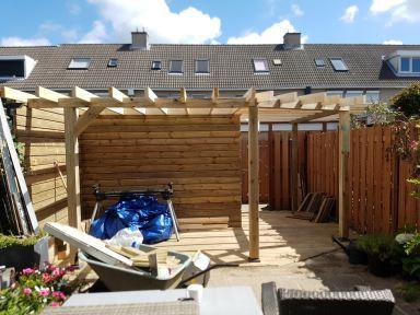 Overkapping pireel Velserbroek Haarlem