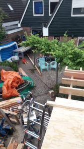 Bouwen van een douglas tuinhuis / tuinschuur in Dronten