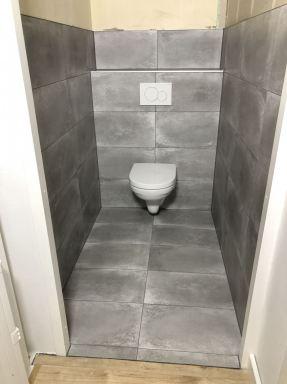 Toilet gerealiseerd op de overloop in Lelystad