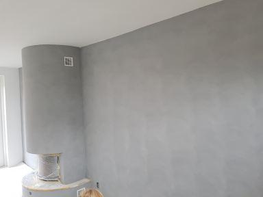 Muren behandelt met betonlook Alblasserdam