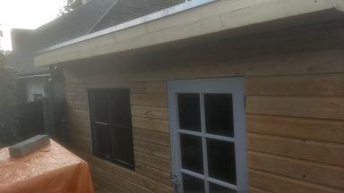 Nieuwe schuur hout met EPDM Breda