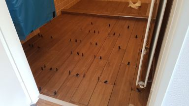 Renovatie wc en badkamervloer vernieuwen klussenier alphen aan den rijn