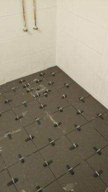 Badkamer verbouwing Maassluis - tijdens