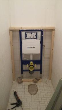 Toilet verbouwing Maassluis - tijdens