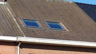 Deze zijn Velux ramen zijn klaar voor gebruik, alweer een zolder die voorzien is van veel lichtinval.