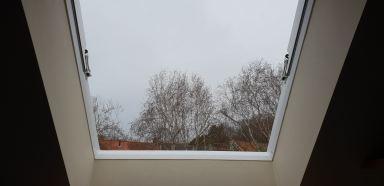Binnen zijde nieuw venster.