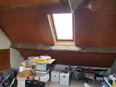 Zolder was dringend aan renovatie toe, voor de werken.