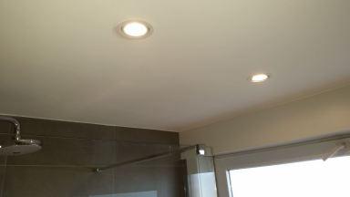 Gyproc plafond met led spots te Kessel - Lo