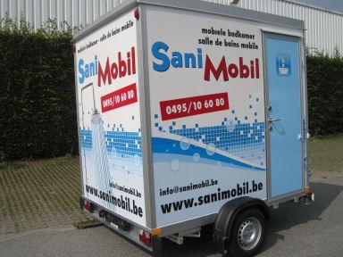 Mobiele badkamer Sanimobil