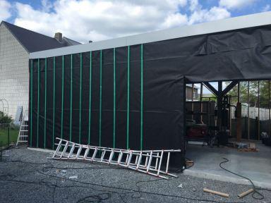 Verbouwen carport naar atelier / werkplaats Kalfort