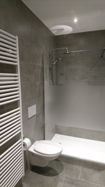 Badkamer renovatie Huldenberg Douche