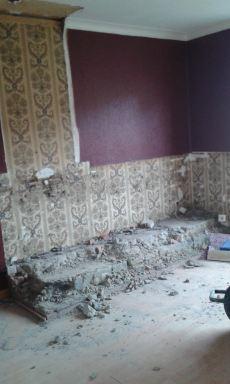 Tijdens renovatie salon en eetkamer
