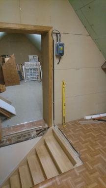 Inrichting van hobbyruimte in zolder