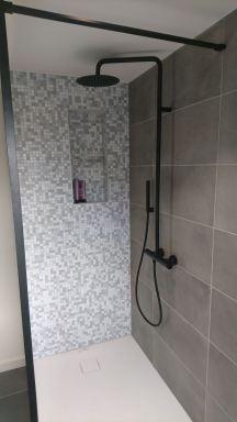 Afgewerkte douche