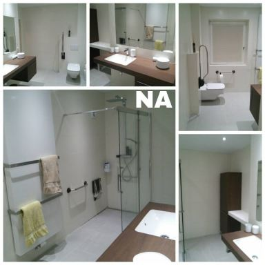 Badkamerrenovatie aangepast voor mindervalide te Lanaken.