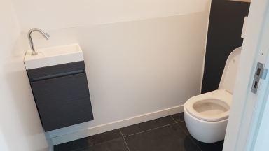 Garage ombouwen naar praktijkruimte met ruime wc en wachtruimte, Berkel Enschot