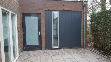 Garage ombouwen naar praktijkruimte met wc en nieuwe pui met zijlicht, Berkel Enschot
