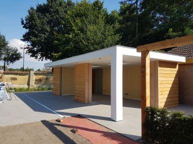 Complete realisatie poolhouse / tuinhuis met bar, toilet en bergruimte, Kaatsheuvel