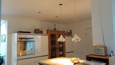 Keukenrenovatie, Hanglampen schuifdeur, Waalwijk